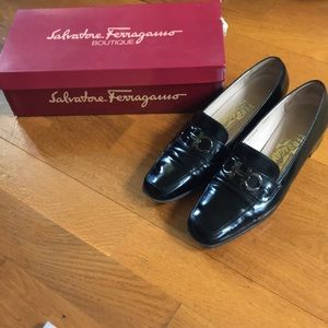 💯 Salvatore Ferragamo Flats Loafers Block Heel